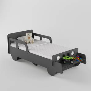Vroom Bed By Boingg! (Dark Grey, Matte Finish) by Urban Ladder - Design 1 Side View - 349872