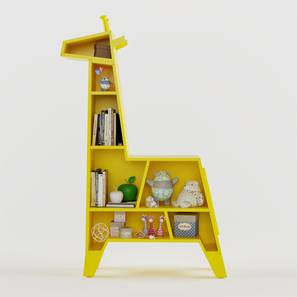 Melman - The Giraffe Bookshelf By Boingg! (Yellow, With Shelves Configuration, Matte Finish) by Urban Ladder - Design 1 Top Image - 349557