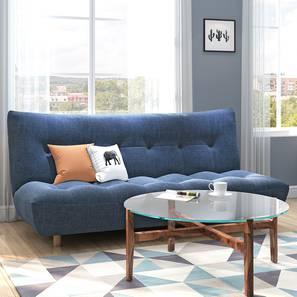 Palermo Sofa Cum Bed (Midnight Indigo Blue) by Urban Ladder - Full View Design 1 - 350155