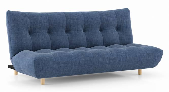 Palermo Sofa Cum Bed (Midnight Indigo Blue) by Urban Ladder - Cross View Design 1 - 350157