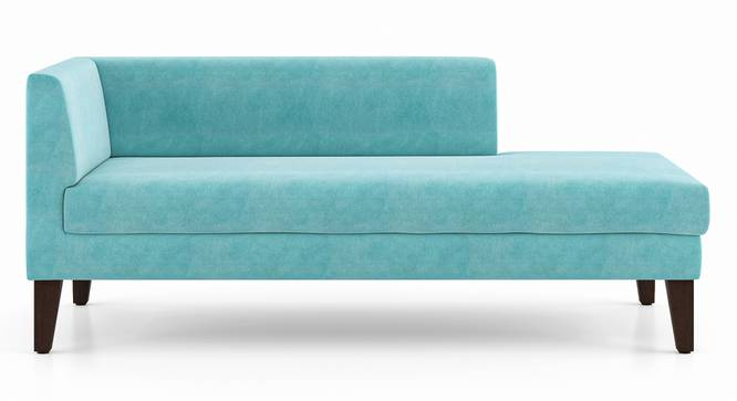 Sigmund Day Bed (Right Aligned, Icy Turquoise Velvet) by Urban Ladder - Front View Design 1 - 350185