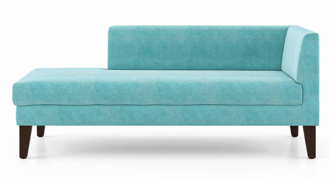 Sigmund Day Bed (Left Aligned, Icy Turquoise Velvet) by Urban Ladder - Front View Design 1 - 350192