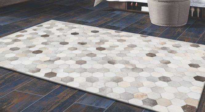 "Fluora Rug (Rectangle Carpet Shape, Light Brown, 244 x 152 cm  (96"" x 60"") Carpet Size) by Urban Ladder - Design 1 Full View - 350317"