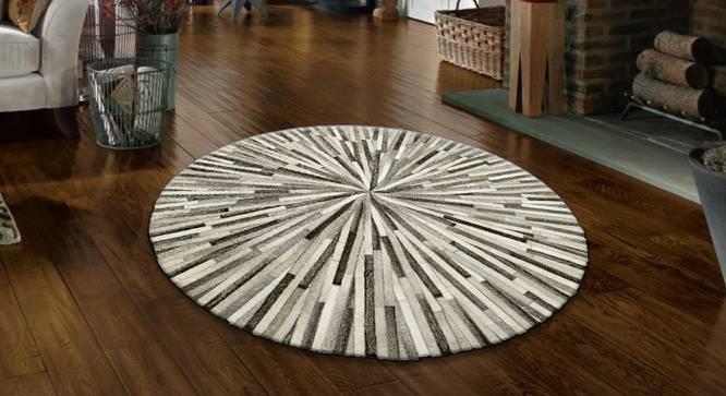 "Ostelle Rug (Round Carpet Shape, 120 x 120 cm (48"" x 48"") Carpet Size) by Urban Ladder - Design 1 Full View - 350326"