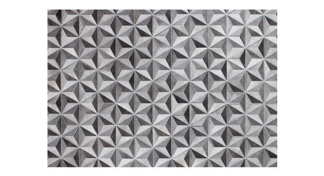 "Dilox Rug (Grey, Rectangle Carpet Shape, 91 x 152 cm  (36"" x 60"") Carpet Size) by Urban Ladder - Front View Design 1 - 350422"