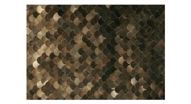 "Curvy Rug (Rectangle Carpet Shape, Dark Brown, 274 x 183 cm  (108"" x 72"") Carpet Size) by Urban Ladder - Front View Design 1 - 350440"