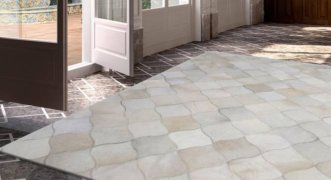 "Rebar Rug (Rectangle Carpet Shape, 91 x 152 cm  (36"" x 60"") Carpet Size, Natural) by Urban Ladder - Design 1 Full View - 350607"