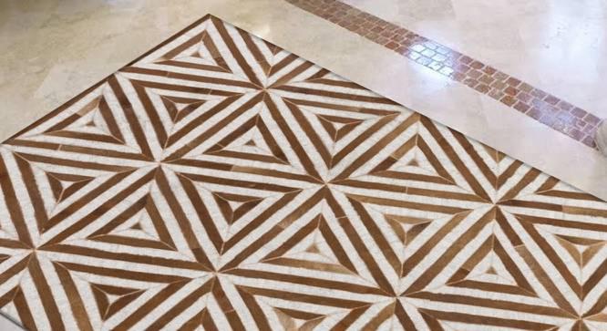 "Pulze Rug (Brown, Rectangle Carpet Shape, 274 x 183 cm  (108"" x 72"") Carpet Size) by Urban Ladder - Design 1 Full View - 350700"
