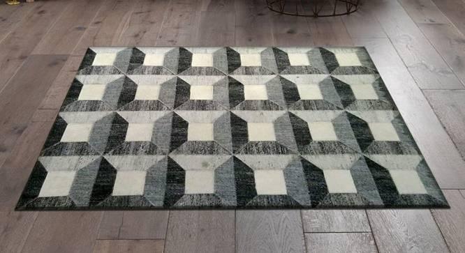 "Alteza Rug (Grey, Rectangle Carpet Shape, 122 x 183 cm  (48"" x 72"") Carpet Size) by Urban Ladder - Design 1 Full View - 350708"