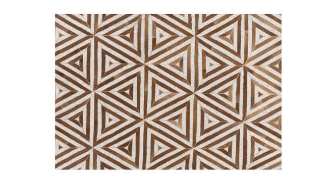 "Pulze Rug (Brown, Rectangle Carpet Shape, 274 x 183 cm  (108"" x 72"") Carpet Size) by Urban Ladder - Front View Design 1 - 350725"