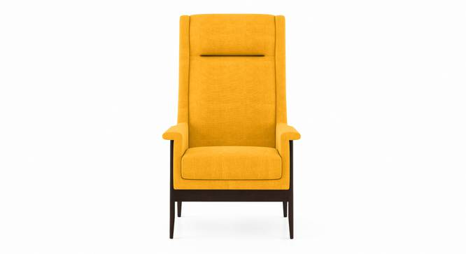 Milo Wing Chair (Matte Mustard Yellow) by Urban Ladder - Front View Design 1 - 350954