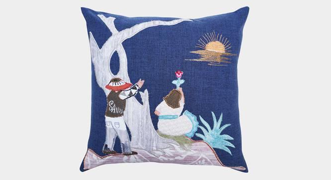 "Bay Cushion Cover (Blue, 45 x 45 cm  (18"" X 18"") Cushion Size) by Urban Ladder - Front View Design 1 - 350961"