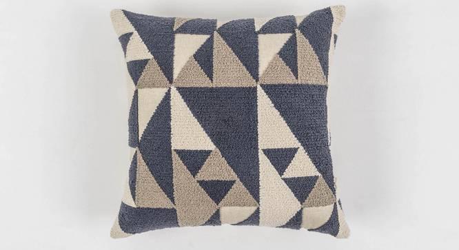 "Contour Cushion Cover (Blue, 50 x 50 cm  (19"" X 19"") Cushion Size) by Urban Ladder - Front View Design 1 - 350987"