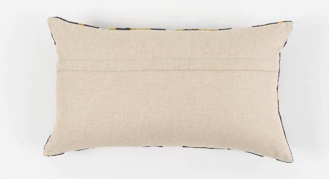 "Contour Cushion Cover (Sunshine Yellow, 60 x 35 cm  (24"" X 14"") Cushion Size) by Urban Ladder - Rear View Design 1 - 350995"