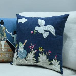 Lucas cushion cover blue lp