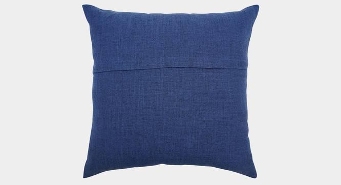 """Lucas Cushion Cover (Blue, 45 x 45 cm  (18"""" X 18"""") Cushion Size) by Urban Ladder - Rear View Design 1 - 351110"""