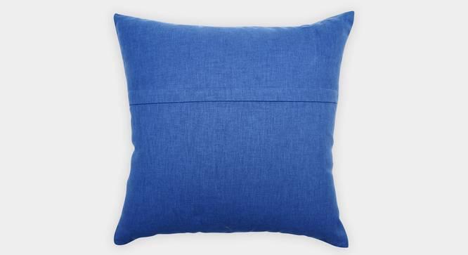"""Regale Cushion Cover (Blue, 45 x 45 cm  (18"""" X 18"""") Cushion Size) by Urban Ladder - Rear View Design 1 - 351112"""