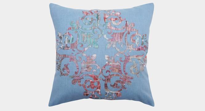 """Souvenir Cushion Cover (Powder Blue, 35 x 35 cm  (14"""" X 14"""") Cushion Size) by Urban Ladder - Front View Design 1 - 351137"""