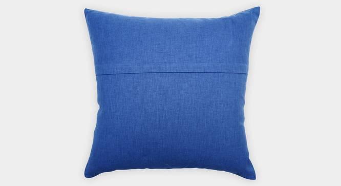 """Venezia Cushion Cover (Blue, 45 x 45 cm  (18"""" X 18"""") Cushion Size) by Urban Ladder - Rear View Design 1 - 351142"""