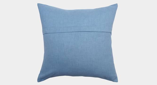 """Souvenir Cushion Cover (Powder Blue, 35 x 35 cm  (14"""" X 14"""") Cushion Size) by Urban Ladder - Rear View Design 1 - 351144"""