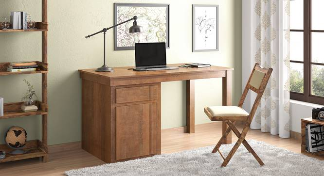 Bradbury Desk (Large Size, Amber Walnut Finish) by Urban Ladder - Full View Design 1 - 351164
