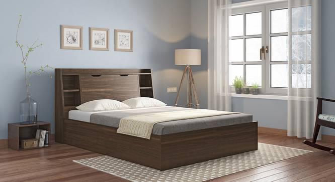Scott Storage Bed (King Bed Size, Box Storage Type, Californian Walnut Finish) by Urban Ladder - Full View Design 1 - 351182