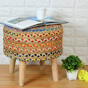 Alexa Foot Stool (Round Shape) by Urban Ladder - Front View Design 1 - 351194