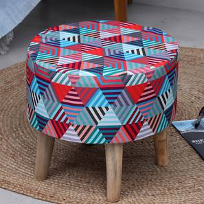 Legnano Foot Stool (Round Shape) by Urban Ladder - Front View Design 1 - 351258