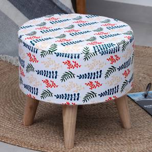 Monza Foot Stool (Round Shape) by Urban Ladder - Front View Design 1 - 351297