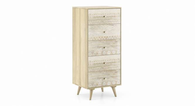 Ivara Tall Chest of Drawer (Natural Finish) by Urban Ladder - Cross View Design 1 - 351376