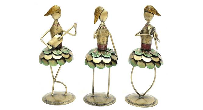 Paisley Figurine (Gold) by Urban Ladder - Design 1 Side View - 351817