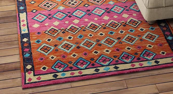 "Brianna Carpet (Pink, Rectangle Carpet Shape, 244 x 152 cm  (96"" x 60"") Carpet Size) by Urban Ladder - Design 1 Half View - 351982"
