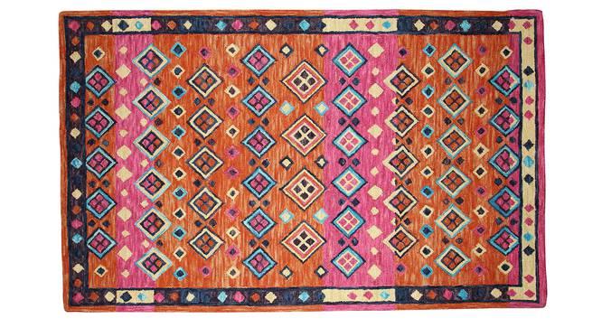"Brianna Carpet (Pink, Rectangle Carpet Shape, 244 x 152 cm  (96"" x 60"") Carpet Size) by Urban Ladder - Front View Design 1 - 351984"