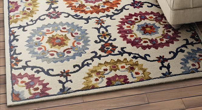 "Anastasia Carpet (Rectangle Carpet Shape, 183 x 122 cm  (72"" x 48"") Carpet Size) by Urban Ladder - Design 1 Half View - 352028"
