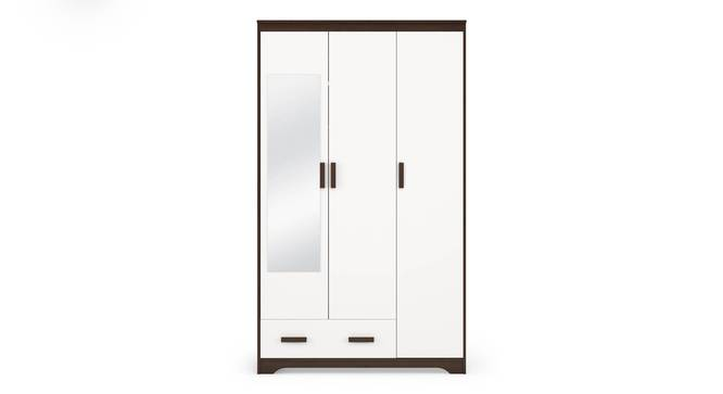 Miller 3 Door Wardrobe (Two-Tone Finish, 1 Drawer Configuration) by Urban Ladder - Front View Design 1 - 352113