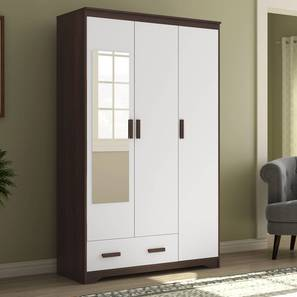 Miller 3 Door Wardrobe (Two-Tone Finish, 1 Drawer Configuration) by Urban Ladder - Full View Design 1 - 352112