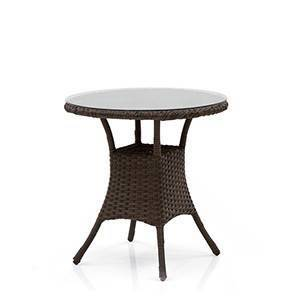Calabah Patio Table (Brown) by Urban Ladder - Front View Design 1 - 352127