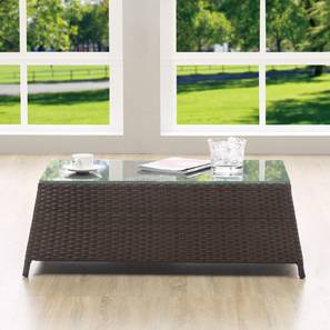 Samui Patio Table (Brown Finish) by Urban Ladder - Picture -