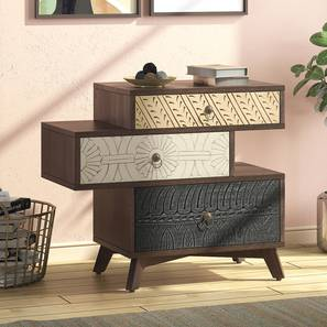 Zenga Side Table (Antique Walnut Finish) by Urban Ladder - Full View Design 1 - 352161