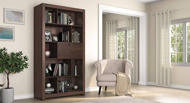 Theodore Open Display Cabinet (Dark Wenge Finish) by Urban Ladder - Full View Design 1 - 352208