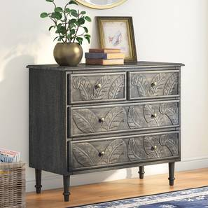 Elisa chest of four drawers finish antique grey lp