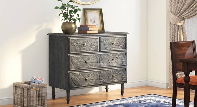 Elisa Chest Of Four Drawers (Antique Grey Finish) by Urban Ladder - Full View Design 1 - 352343
