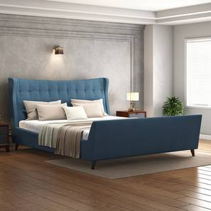 Belize Upholstered Bed Size - King Colour - BLUE (Blue, King Bed Size) by Urban Ladder - Design 1 Full View - 352359