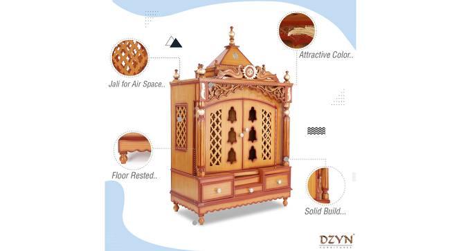 Ambuj Prayer Unit (Teak, Gloss Finish) by Urban Ladder - Front View Design 1 - 352474