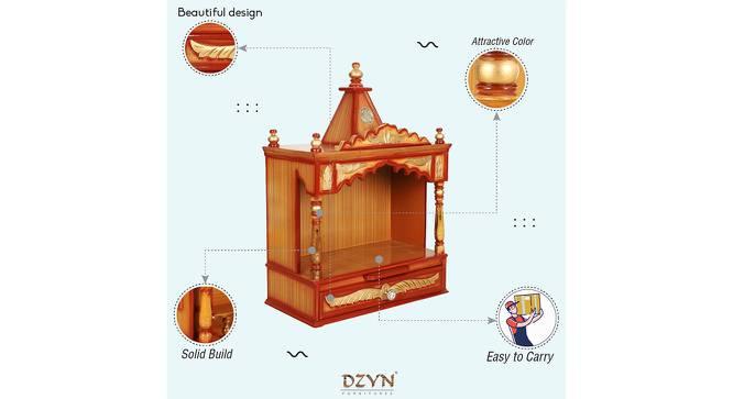 Fazluna Prayer Unit (Gloss Finish, Teak Gold) by Urban Ladder - Front View Design 1 - 352534