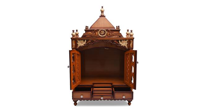 Gulshan Prayer Unit (Teak, Gloss Finish) by Urban Ladder - Front View Design 1 - 352540