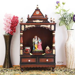 Padmajaa Prayer Unit (Brown, Gloss Finish) by Urban Ladder - -