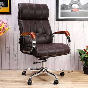 Foster Office Chair (Brown) by Urban Ladder - -