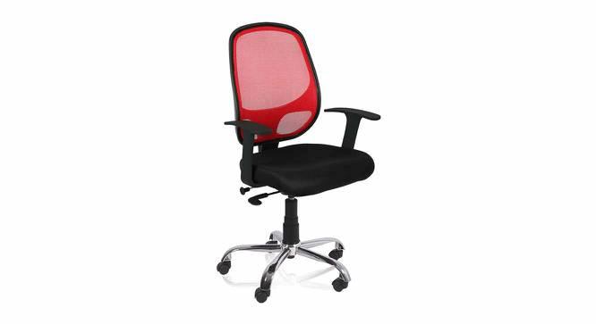 Genaya Office Chair (Black Red) by Urban Ladder - -