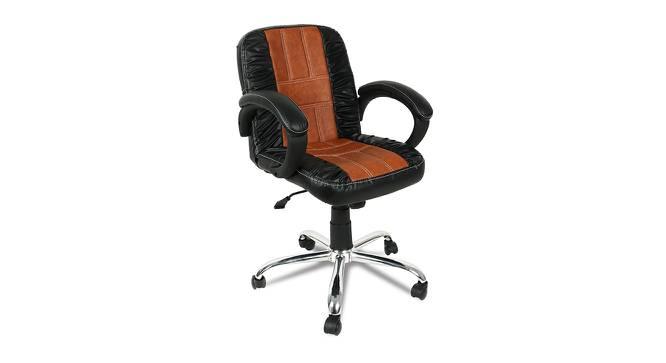 Sanderson Office Chair (Black Brown) by Urban Ladder - -